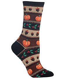 Hot Sox Thanksgiving Festive Fair Isle Socks