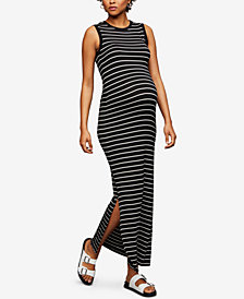 A Pea In The Pod Maternity Striped Maxi Dress