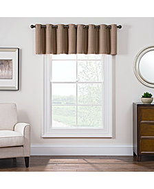 "Keeco Antique Satin 52"" x 18"" Room-Darkening Grommet Window Valance"