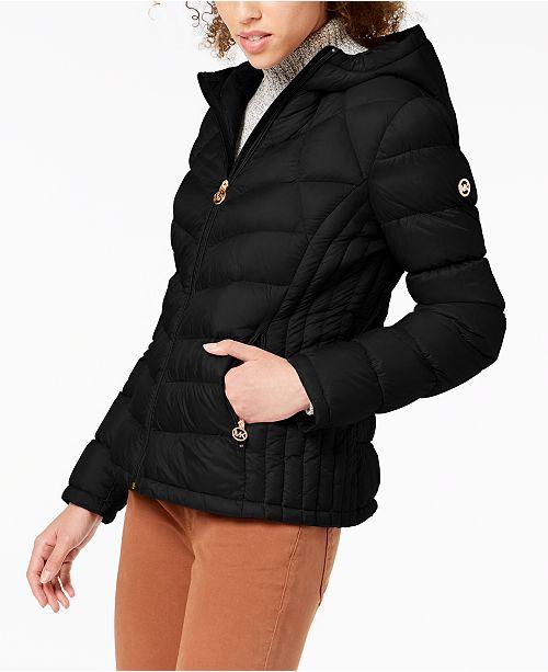 5699b4164e9 Michael Kors Petite Packable Down Puffer Coat   Reviews - Coats ...