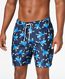 "Trunks Surf & Swim Co. Men's 6.5"" Frog-Print Swim Trunks"