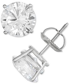 Stud Earrings (4 ct. t.w.) in 14k White Gold