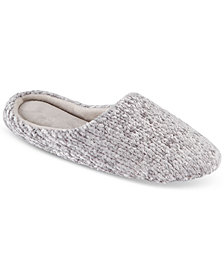 Charter Club Chenille-Knit Scuff Slippers, Created for Macy's