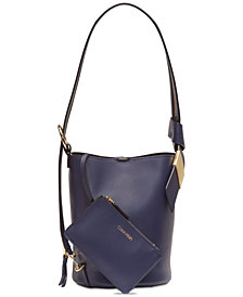 Calvin Klein Karsyn Leather Convertible Hobo Backpack