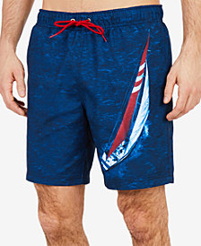 "Nautica Mens J-Class 8"" Swim Trunks"