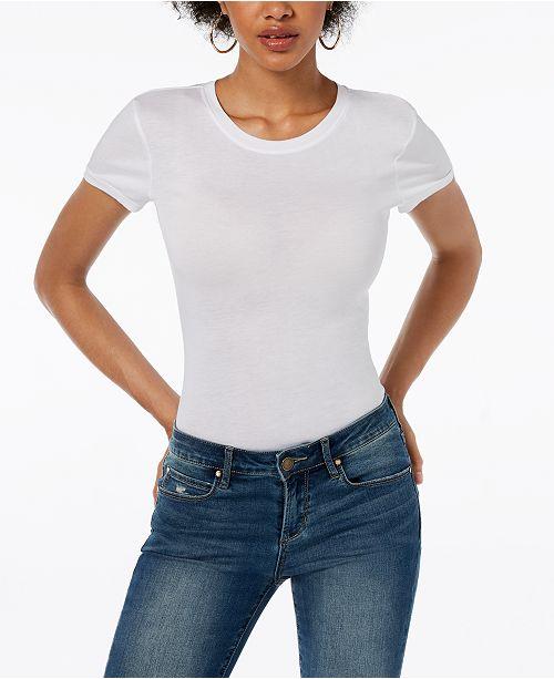 b96e0fd09b GUESS Short-Sleeve Bodysuit & Reviews - Tops - Women - Macy's