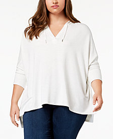 Style & Co Plus Size V-Neck Hoodie, Created for Macy's