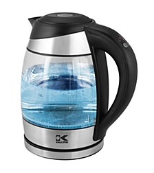Glass Digital Water Kettle with Color Changing LED lights