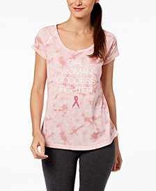 Ideology Breast Cancer Research Foundation Printed T-Shirt, Created for Macy's