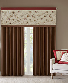 Madison Park Serene Colorblocked Embroidered Window Treatment Collection