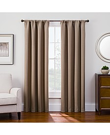 "Keeco Antique Satin 52"" x 108"" Room-Darkening Rod Pocket Window Panel"