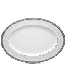 "Noritake Odessa Platinum 16"" Oval Platter"