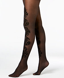 I.N.C. Paisley-Flocked Tights, Created for Macy's