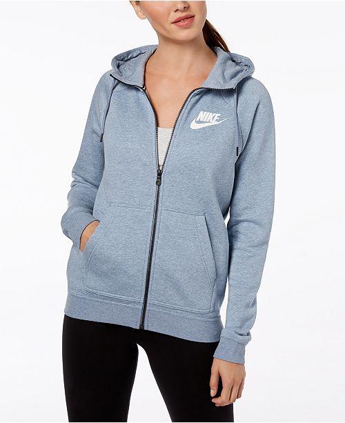 b8372c32dbac Nike Sportswear Rally Fleece Zip Hoodie   Reviews - Tops - Women ...