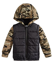 Epic Threads Little Boys Camo-Print Puffer Coat, Created for Macy's