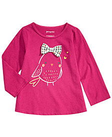 First Impressions Toddler Girls Bird & Bow Graphic Cotton T-Shirt, Created for Macy's