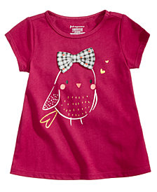 First Impressions Baby Girls Bird-Print Cotton T-Shirt, Created for Macy's