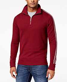 Michael Kors Men's Quarter-Zip Waffle-Knit Pullover