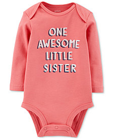 Carter's Baby Girls Little Sister Cotton Bodysuit
