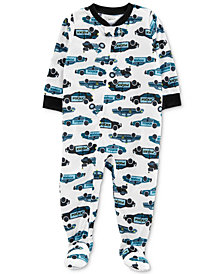 Carter's Baby Boy Cruiser-Print Full-Zip Pajamas
