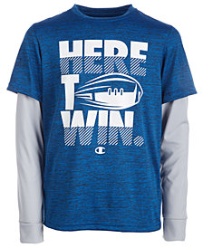 Champion Little Boys Win-Print T-Shirt
