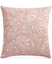 Charter Club Damask Designs Spice Paisley Cotton 300-Thread Count European Sham, Created for Macy's