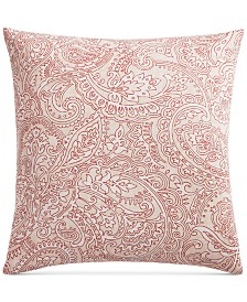 Charter Club Damask Designs Paisley Cotton 300-Thread Count European Sham, Created for Macy's