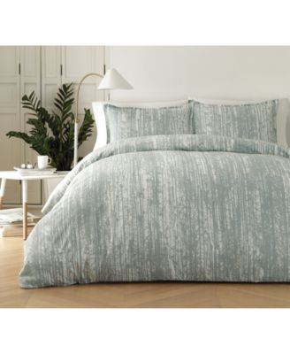 Pihkassa Sage Cotton 2-Pc. Twin Duvet Cover Set