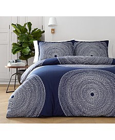 Marimekko Fokus Navy Cotton 2-Pc. Twin Duvet Cover Set