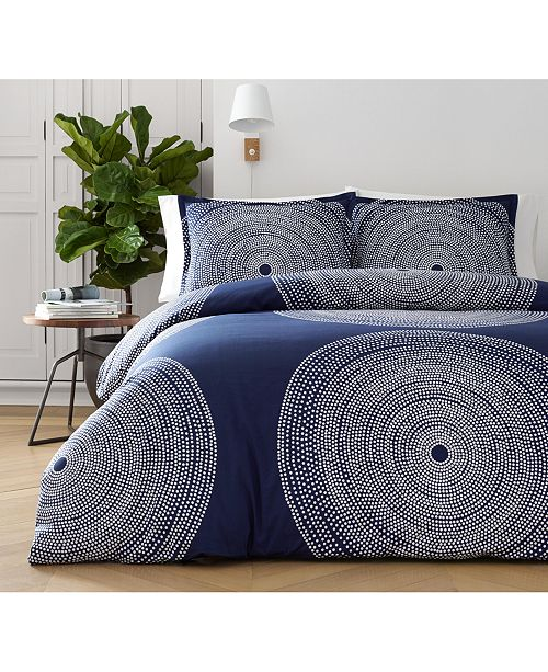 Marimekko Fokus Navy Bedding Collection