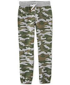 Carter's Little & Big Boys Camo-Print Fleece Jogger Pants
