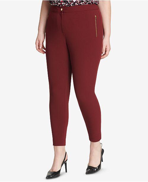 88bf69bd2d8ac Calvin Klein Plus Size Skinny Crepe Pants   Reviews - Pants ...