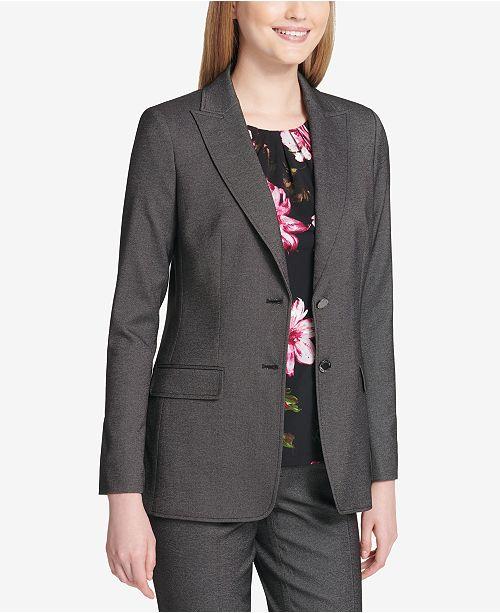 f10a2a246acf0 Calvin Klein Two-Button Blazer - Jackets - Women - Macy s