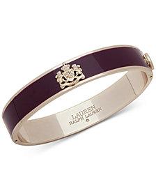 Lauren Ralph Lauren Crest & Colored Epoxy Bangle Bracelet