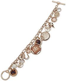 Lauren Ralph Lauren Gold-Tone Equestrian Theme Charm Bracelet