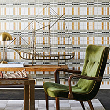 Novogratz for Tempaper Paired Back Plaid Self-Adhesive Wallpaper