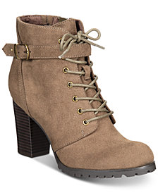 Style & Co Cayte Lace-Up Ankle Booties, Created for Macy's