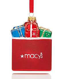 Holiday Lane Macy's Shopping Bag Ornament, Created for Macy's