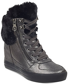 GUESS Women's Dustyn Wedge Sneakers