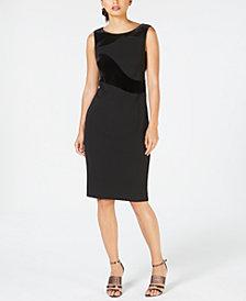 Calvin Klein Velvet-Swirl Sheath Dress