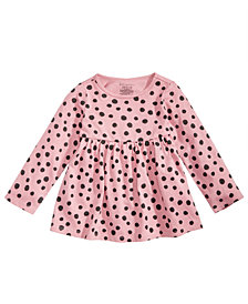 First Impressions Baby Girls Dot-Print Cotton Tunic, Created for Macy's