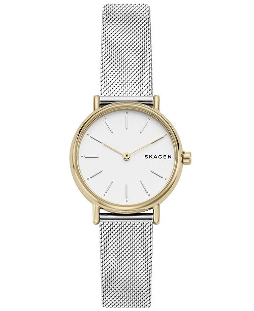 c7af3162f774 ... Skagen Women s Signatur Slim Stainless Steel Mesh Bracelet Watch ...