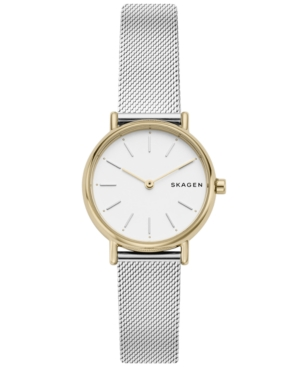 Skagen WOMEN'S SIGNATUR SLIM STAINLESS STEEL MESH BRACELET WATCH 30MM