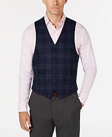 Lauren Ralph Lauren Men's Classic/Regular Fit Navy/Brown Plaid Wool Vest