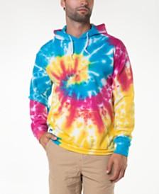 Original Paperbacks Rainbow Spiral Tie Dye Hoodie