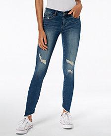 Articles of Society Sammy Ripped Asymmetrical Skinny Jeans