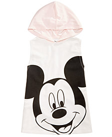 Disney Big Girls Mickey Mouse Sleeveless Hoodie