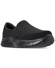 Men's Work Relaxed Fit: Flex Advantage - McAllen SR Slip Resistant Wide Width Casual Sneakers from Finish Line