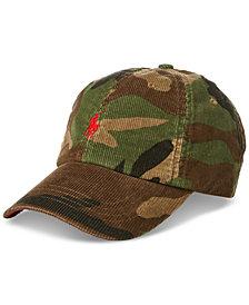 Polo Ralph Lauren Men's Camouflage Corduroy Baseball Cap