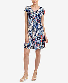 NY Collection Paneled A-line Dress